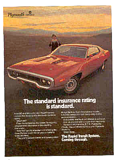 1971 Red Plymouth Road Runner Car Ad (Image1)