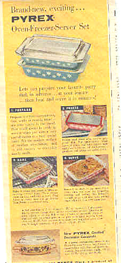1957 Pyrex Snowflake And Daisy Dishes Ad (Image1)