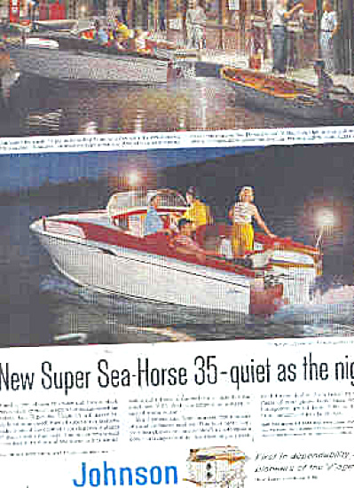 1958 Johnson Super Sea-Horse Boat Motor Ad (Image1)