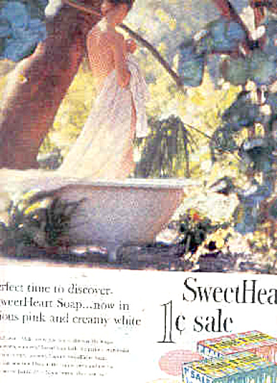 1958 Sweetheart Soap Nude Lady Ad (Image1)