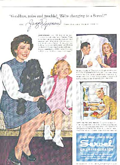 1946 Jane Wyman Poodle Servel Refrigerator Ad (Image1)