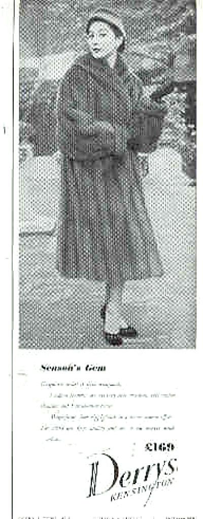 1954 Derrys Kensington Fur Coat  Ad (Image1)
