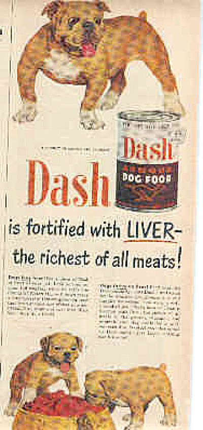 1950 BULLDOG Dash Dog Food Bulldog Ad (Image1)