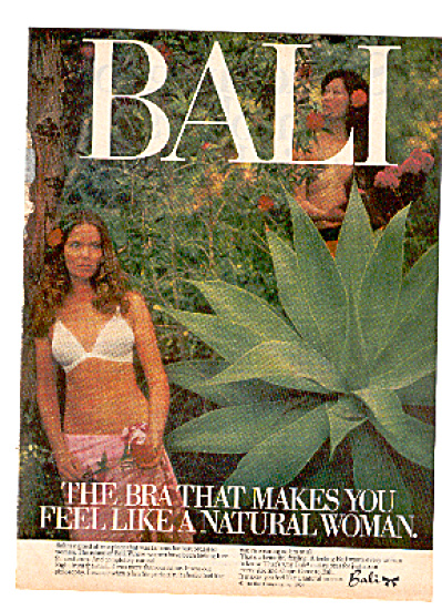 1976 Bali Natural Woman Bra Ad JUNGLE (Image1)