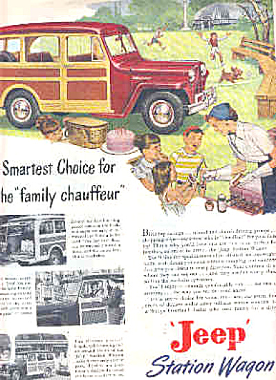 1949 Jeep Family Chauffeur Station Wagon Ad (Image1)