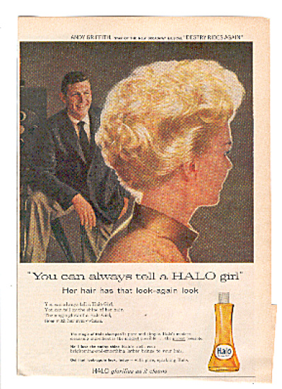 1959 Andy Griffith Halo Girl Shampoo Ad (Image1)