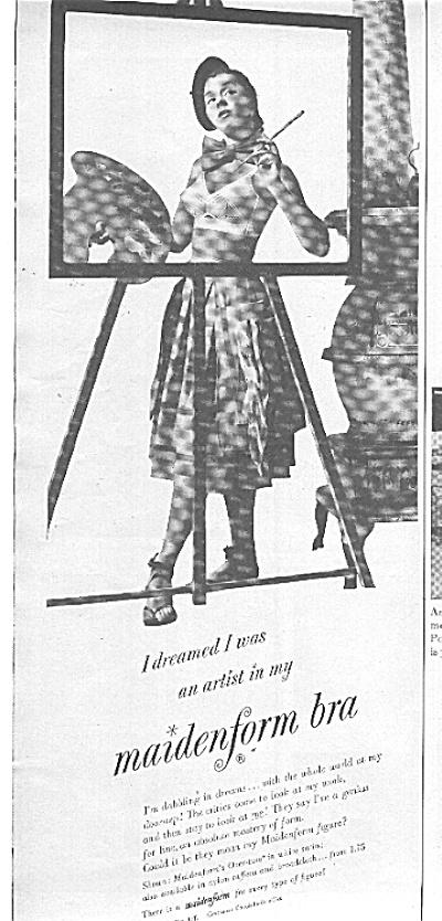 1951 Maidenform Bra I DREAMED ...  Artist  Ad (Image1)