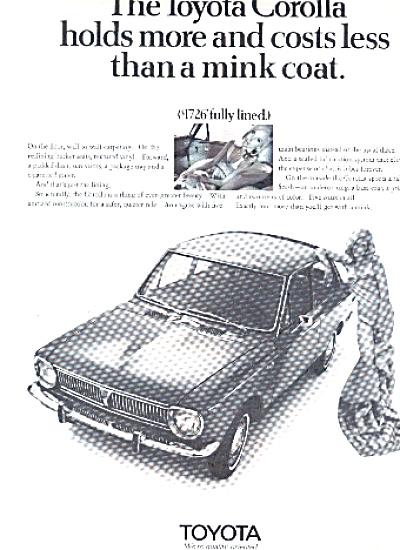 1970 Toyota Corolla Mink Coat Ad (Image1)