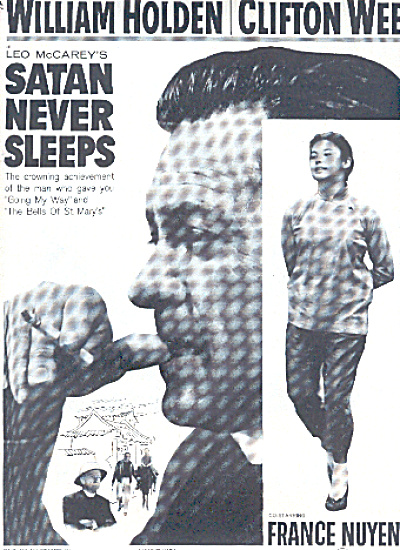 1970 Will Holden Satan Never Sleeps Movie Ad (Image1)