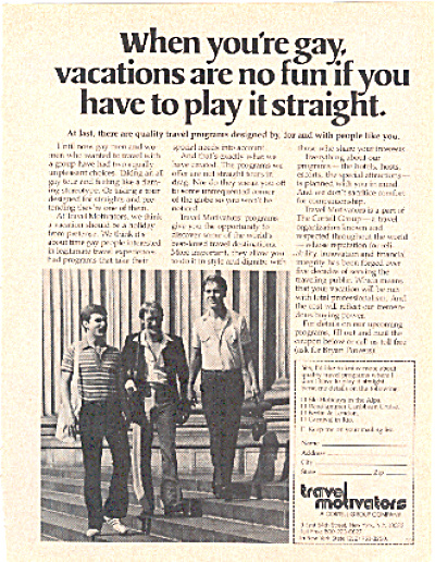 1979 Gay Vacation Gay Interest Ad (Image1)