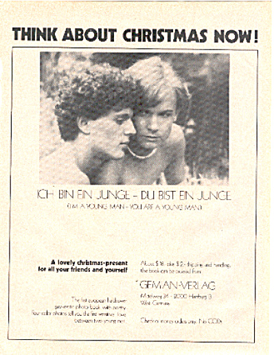 1979 Gay Interest Young Men Gemian Verlag Ad (Image1)