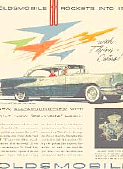 1954  OLDS Oldsmobile  88  Car Rocket  AD (Image1)