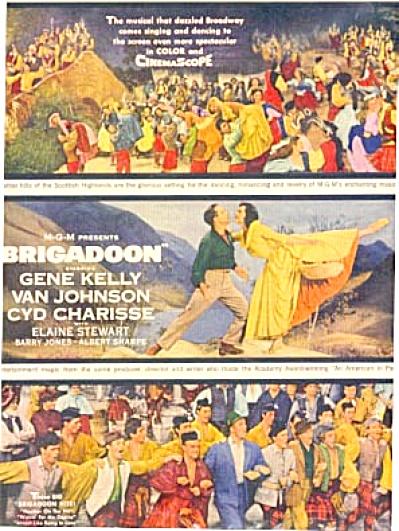 1955 BRIGADOON Gene Kelly Movie AD (Image1)