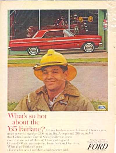 1965 Ford Fairlane Fireman & Firetruck AD (Image1)