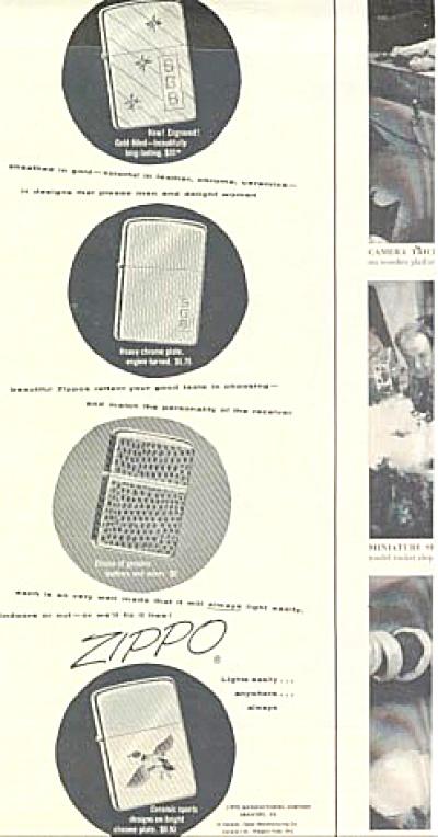 1954 Beautiful Zippo Lighter AD (Image1)