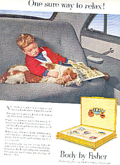 1952 Body By Fisher Boy Sleeping Dog Ad (Image1)