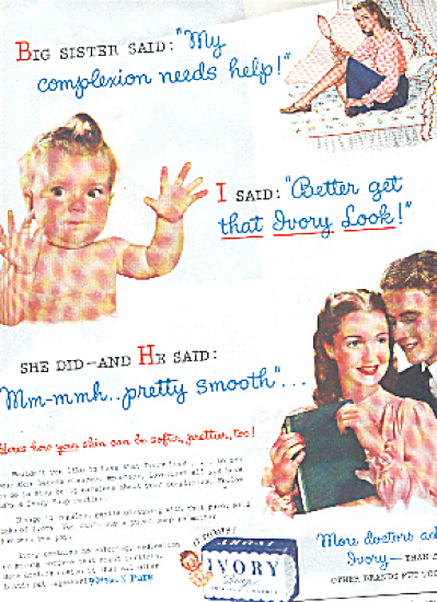 1945 Ivory Soap Ad BIG SISTER DATES (Image1)