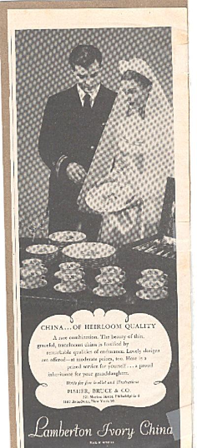 1945 Lamberton Ivory China Wedding Ad (Image1)