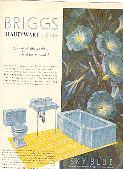 1952 Briggs Sky Blue Bathroom Fixtures Ad (Image1)