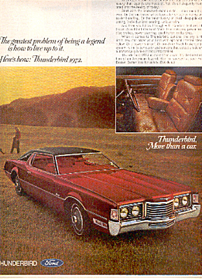 1972 Ford Thunderbird Legend Car Ad (Image1)