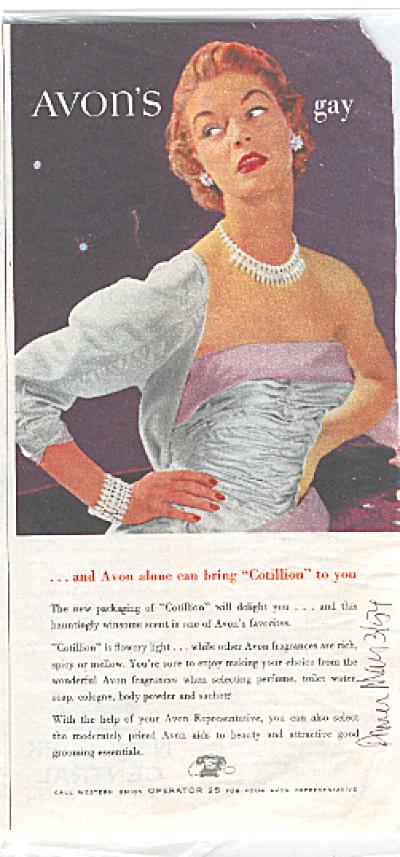1954 Gay Avon Cotillion Ad (Image1)