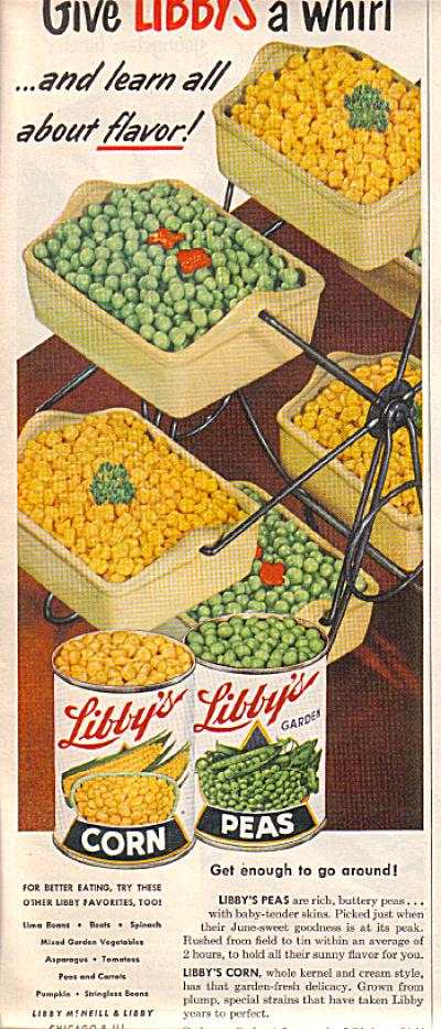 1951 Carousel Jadite Server Libby's Veget. AD (Image1)