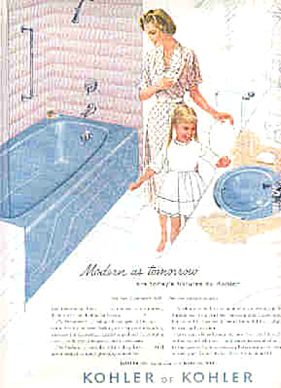 1959 Kohler Of Kohler Lady And Girl Ad (Image1)