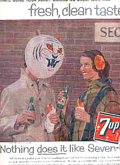 1959 Seven-Up Teen Party Hotdog Ad (Image1)