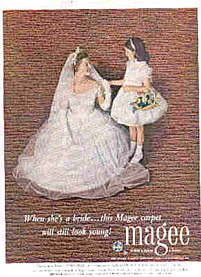 1952 Bride And Flowergirl Magee Carpet Ad (Image1)