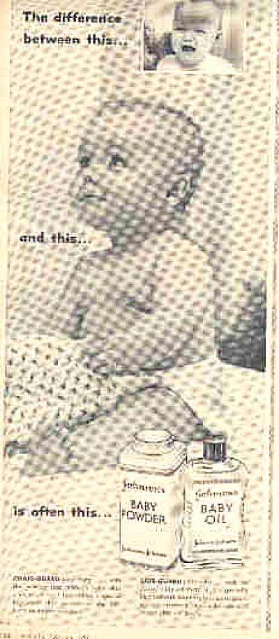 1957 Johnson' Baby Powder Diaper Baby Ad (Image1)