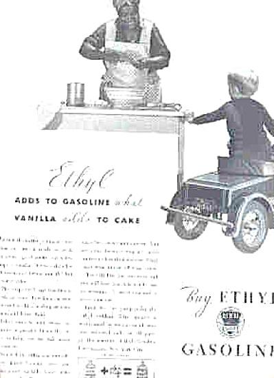 1932 Ethyl Gasoline Aunt Jemima Pedal Car Ad (Image1)