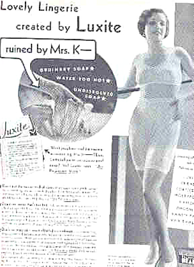 1932 Palmolive Beads Lady In Underwear  Ad (Image1)