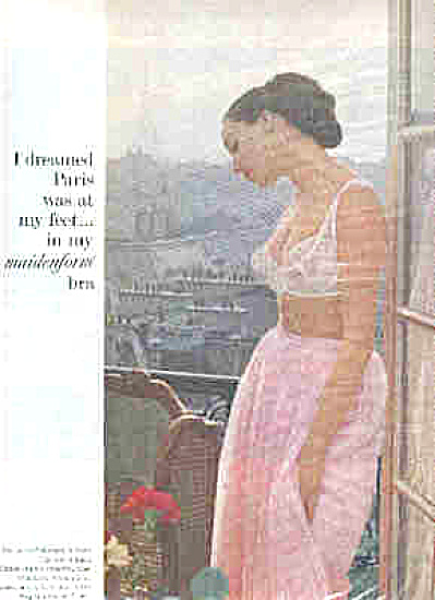 1964 I Dreamed Paris In My Maidenform Bra (Image1)
