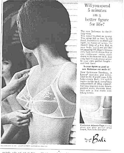 1963 Bali Better Figure Bra Ad (Image1)