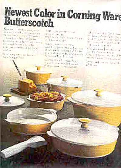 1969 Butterscotch Colored Corning Ware Ad (Image1)