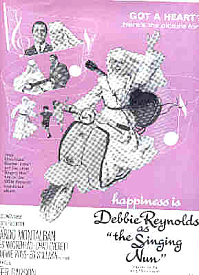1966 Debbie Reynolds Singing Nun Movie Ad (Image1)