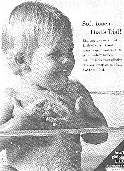 1966 Cute Little Nude Baby Dial Soap Ad (Image1)