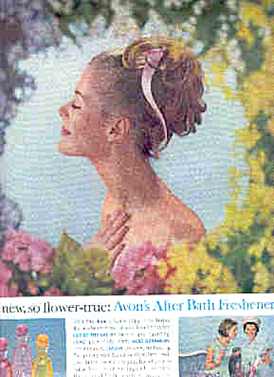 1964 Avon After Bath Freshener Sexy Lady Ad (Image1)