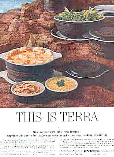 1964 Earthenware Look Terra Pyrex Ad (Image1)