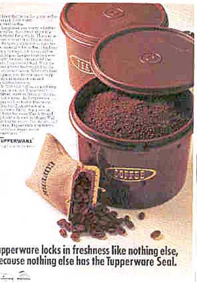 1970 Tupperware Harvest Brown Canisters Ad (Image1)