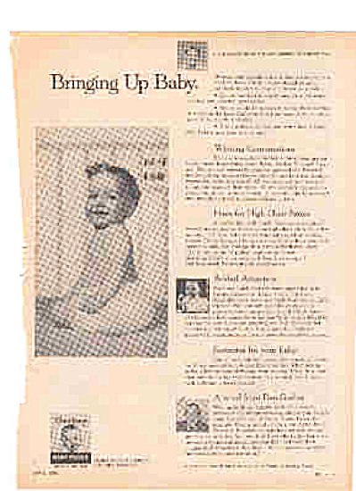 1959 Bringing Up Baby Underpants Gerber Ad