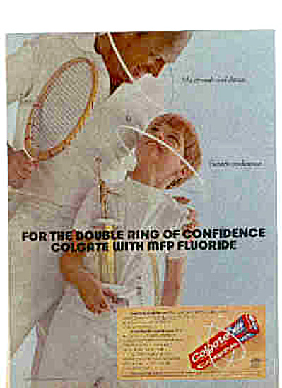 1971 Man Boy Tennis Trophy Colgate Ad
