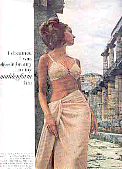 1965 I Dreamed Classic Beauty Maidenform Ad (Image1)