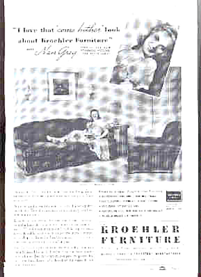 1938 Kroehler Furniture Nan Grey Ad (Image1)