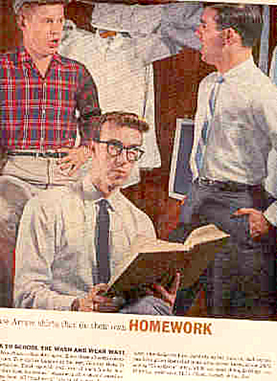 1958 Arrow Shirts Young School Boys Ad (Image1)
