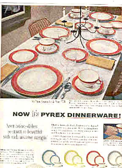 1953 Pyrex FLAMINGO LIME AQUA GRAY DISH Ad (Image1)