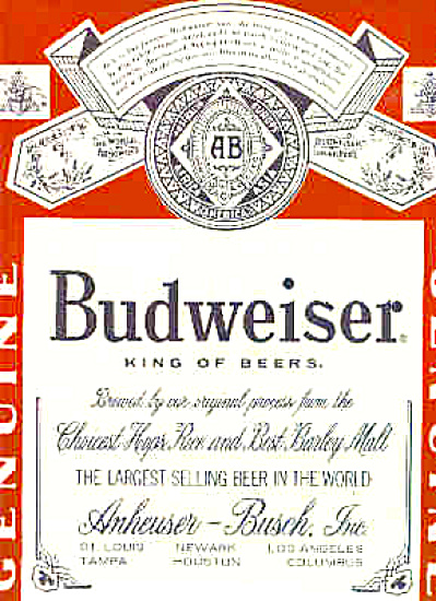 1969 Budweiser King Of Beers Ad (Image1)
