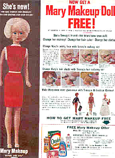 1965 Mary Makeup Doll Offer Ad