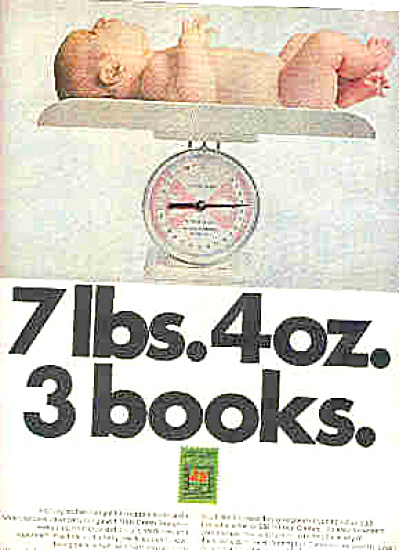 1970 S &H Green Stamps Naked Baby Ad (Image1)