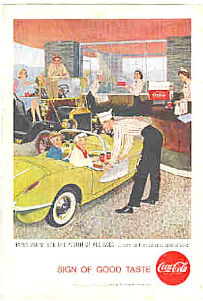 1958 Grandmas In Sportscar Coca-Cola Ad (Image1)
